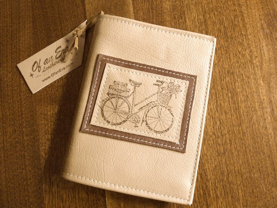 Refillable Leather Journal - Bicycle