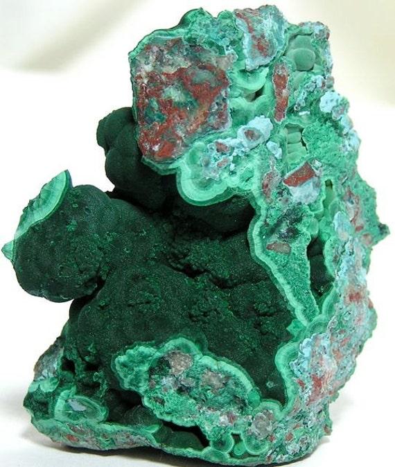 Reserved for P  Malachite Chrysocolla Mineral Specimen Morenci Arizona