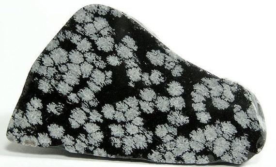 White Snowflake Obsidian : Snowflake obsidian polished stone free us shipping