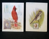 1926 Singer Sewing Trade Cards with Birds