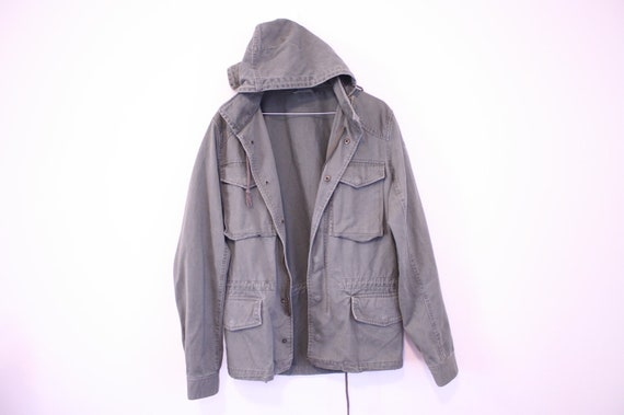 Perfect 90s Hooded Military Army Anorak a la Lindsay from Freaks and Geeks