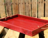 Reclaimed Pallet Wood Furniture - A Rustic Red Serving Tray