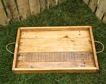 Reclaimed Pallet Wood - Vintage Style Serving Tray