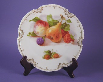 Marseille Z.S.& Co Antique Plate with Fruit Transfer