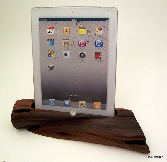 Manzanita Wood iPad Stand & Charging Station ICN132