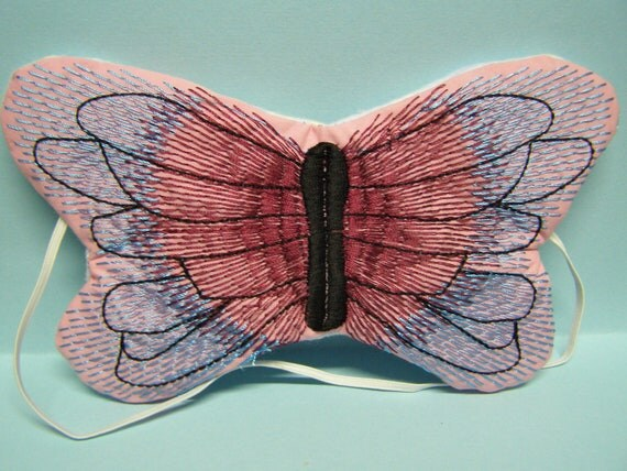 Embroidered Eye Mask Sleeping Butterfly By MadeByMeEmbroidery