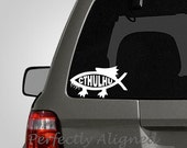 Cthulhu fish Car Decal