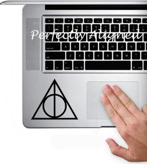 Vinyl Decal -  Harry Potter inspired Deathly Hallow decal for Macbook Trackpad