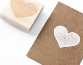 Big heart rubberstamp, heart stamp, custom rubberstamps