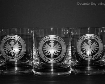 Engraved Crystal Whiskey Glasses (set of 4)