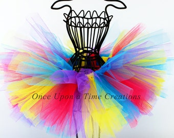 Candy Rainbow Tutu - All Sizes - Newborn Baby 3 6 9 12 18 Months 2T 3T 4T 5T 6 7 8 10 12 Adult - Halloween Costume Photo Prop - Candy Color