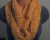 Autumn Yellow Shelly Infinity Scarf