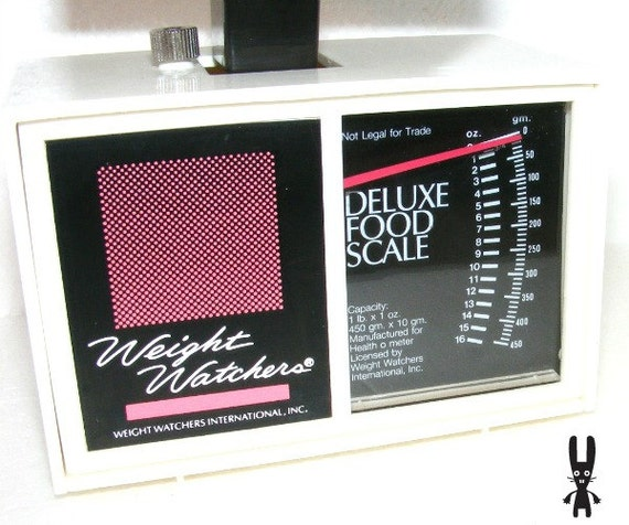 Weight Watchers Deluxe  Food Scale 3125 E 96 Health Diet Pink White Black Nutrition Kitchen