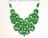 Le Flor: Kelly Green Statement Necklace