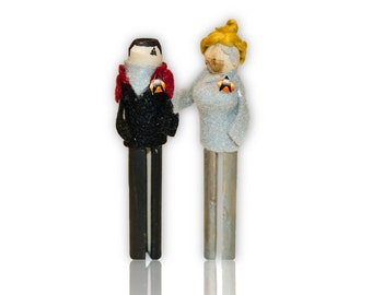 Star Trek Voyager Clothespin Doll Ornament Kit: Seven of Nine and Chakotay