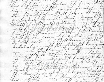 4 Pages Of Handwriting from 175 Year Old German Diary
