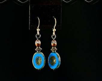 Free-Spirit Blue Drop Earrings