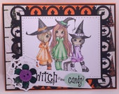 Witch way is the Candy Halloween Greeting Card