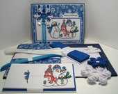 Merry Christmas Snowman Card Kit-10 Pack