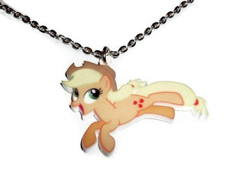Apple Jack Necklace, My Little Pony, Laser Cut Pendant