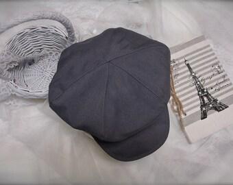 Newborn Size Grey  newsboy hat, beret for boys, BERET HAT ONLY