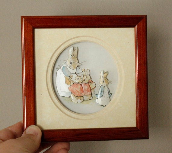 Beatrix Potter Peter Cottontail 3 D Decoupage Wall Art