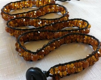 Crystal Beaded Wrap Bracelet