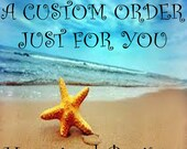Custom Order For Valriee I Love My Marine Charm Bracelet Red Gold Blue Glass Beads