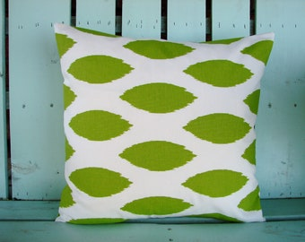 """18"""" X 18"""" green and white chipper print-decorative pillow cover-gifts under 40-throw pillow"""