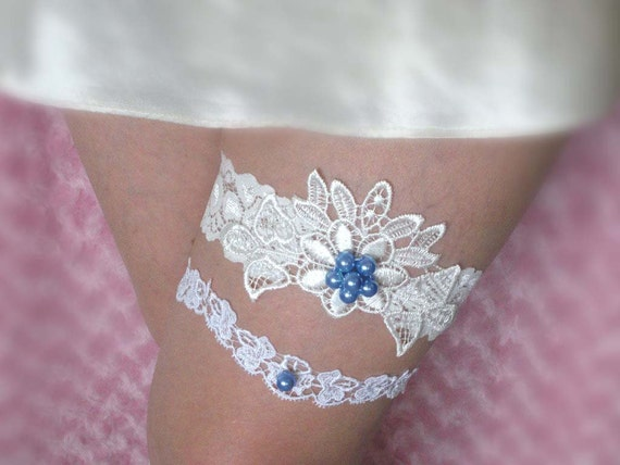 Gorgeous Wedding Garters on Etsy | Something Blue
