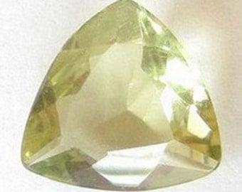 Natural Yellow Green Beryl, Madagascar, Unheated, Trilliant 9.5x9x4.2 mm, 1,86 carat
