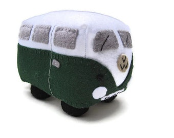 VW Campervan Gift VW Campervan Plush, Collectible VW Bug, Personalized Toy, Made to Order