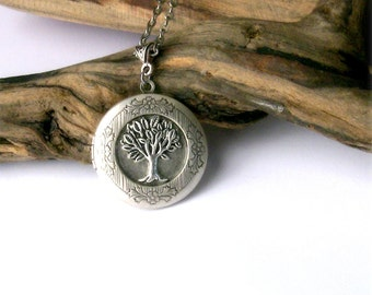 Celtic Locket Jewelry Tree of Life Locket Necklace Family Tree Locket
