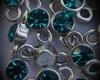 Blue Zircon Genuine Silver Plated Swarovski Crystal Connectors Link T900