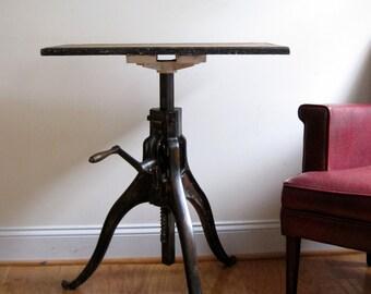 Machine Age Table in Cast Bronze