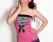 CANDY-01 'PINK' Striped Tube Top XS-L - misslovettshop