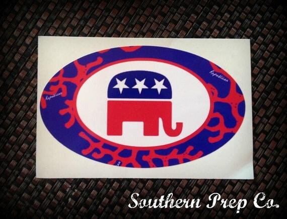 Preppy Car Stickers Preppy Republican Bump...