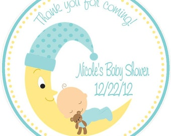 Baby Shower Favor - Baby on Moon