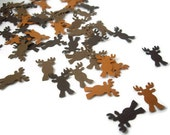 100 moose punches, deer punches, reindeer punches, embellishment, woodland decoration, christmas decoration