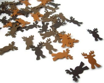 100 moose punches, deer punches, reindeer punches, moose confetti, deer confetti, embellishment, woodland decoration, christmas decoration