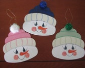 Snowmen,  ornaments, Christmas, hats, winter, magnets