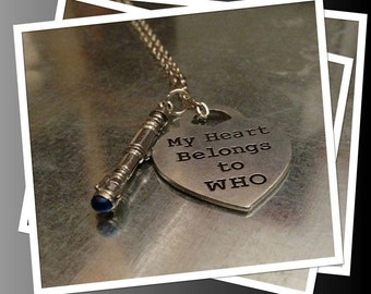 Exclusive Sci Fi Weapon and Heart Necklace
