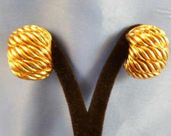 Premier Gold Roped Clip earrings.