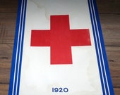 1920 Red Cross Store Window Sign set of two FREE SHIPPING