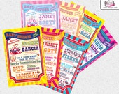 Carnival Invitations, Circus Baby Shower invitations, Baby Shower Invitations