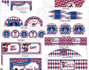 Mickey Mouse Baseball Birthday Decorations