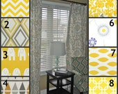 """TWO Curtain Panels, 25"""" x 84"""" - 17 Fabrics to Choose From"""