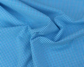 Turqoise Gingham Cotton Fabric, 1 Yard
