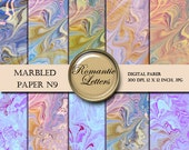 Digital paper pack Marbled  digital Wedding Scrapbook  Paper Shabby Chic Background pastel