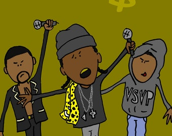 ASAP ROCKY poster - ASAP Mob -  Color wall art print